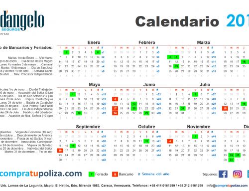 Calendario 2019 (versión digital y para imprimir)